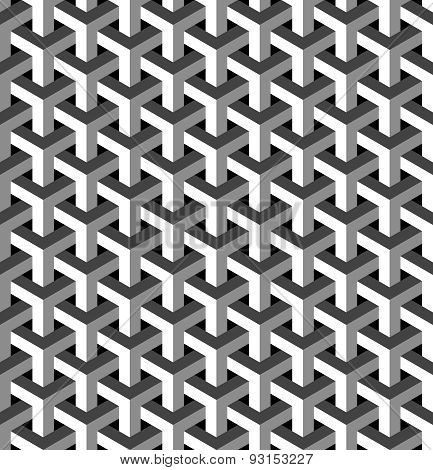 Abstract isometric 3d seamless pattern background. Ideal for fabric design wrapping paper print and website backdrop. EPS10 vector file. poster