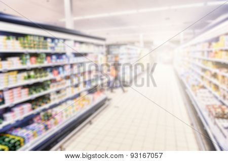 Supermarket Blurry Background