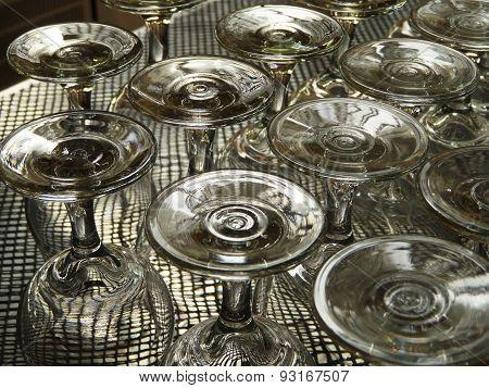 Upturned Wineglasses