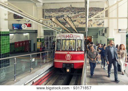 Beyoglu Tunel Station, Istanbul, Turkey