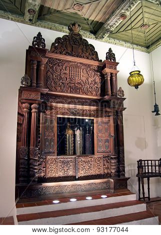 Synagogue From The Province Of Cochin (india). Storage Cabinet Torah