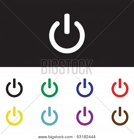 On Off Switch Icon Set For Web