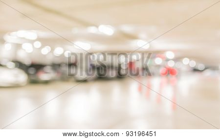 Car Park Interior Blur