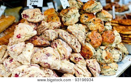 Butterscotch And Cranberry Scones