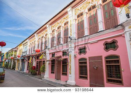 The Old Town Phuket Chino Portuguese Style At Soi Rommanee Talang Road., Phuket Town, Phuket, Thaila