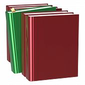 Books row blank red one selected choosing green leadership take answer covers standing textbook template. School studying grab education index content icon concept poster