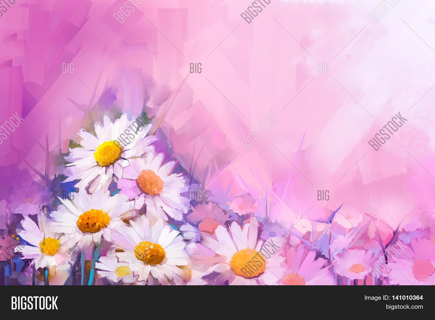 Oil Painting Flowers Image Photo Free Trial Bigstock