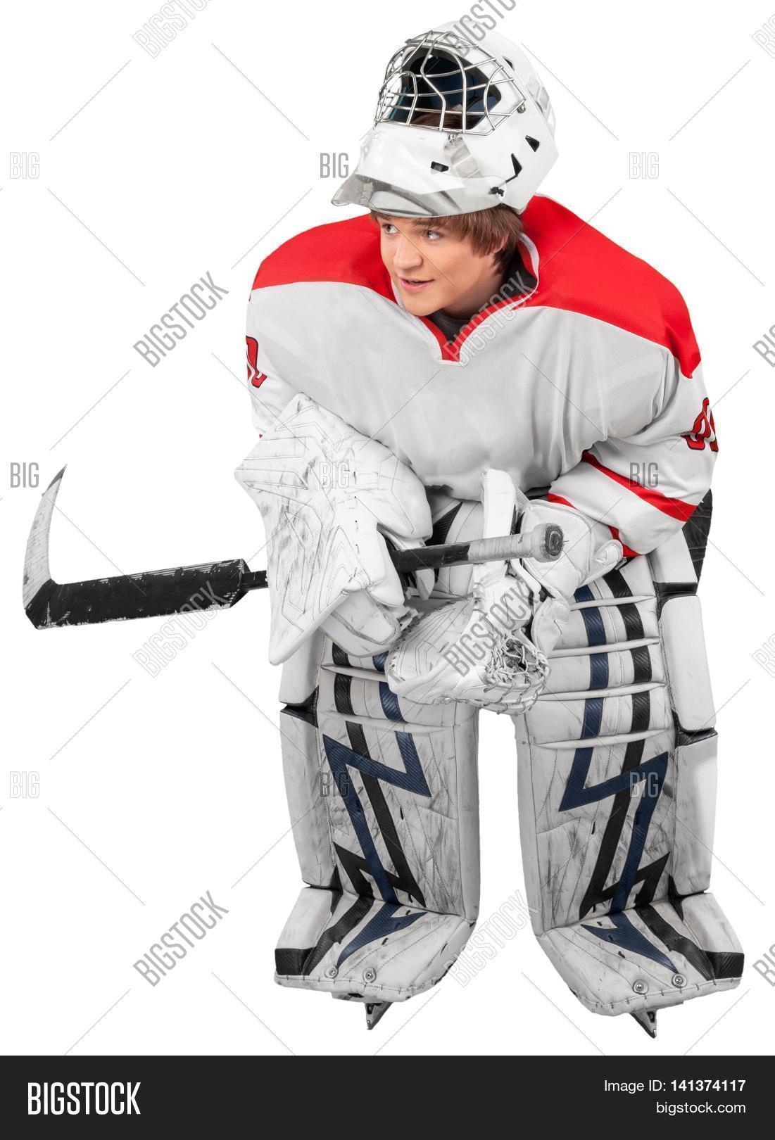 Ice Hockey Goalie Image Photo Free Trial Bigstock
