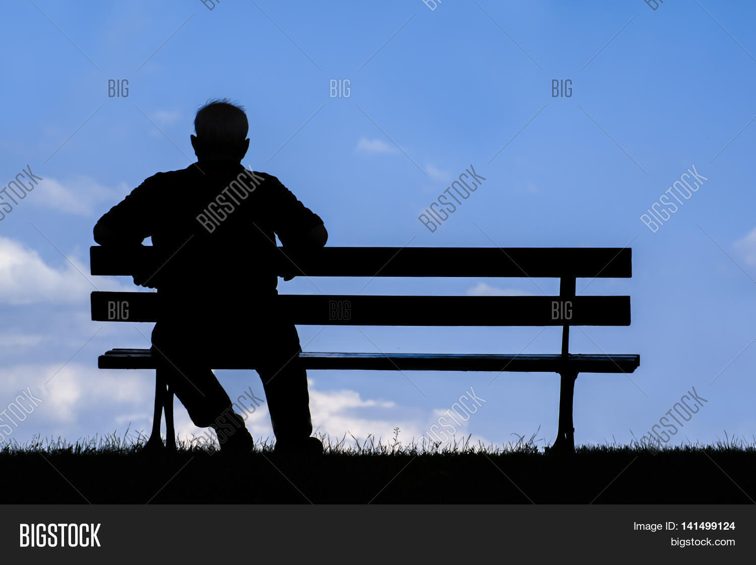 old man sitting alone image photo free trial bigstock