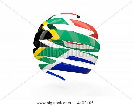 Flag Of South Africa, Round Icon