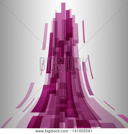 Abstract pink elements technology background, stock vector