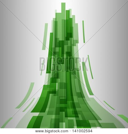 Abstract green elements technology background, stock vector