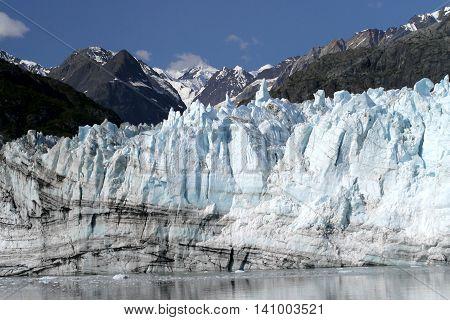 Margerie Glacier, a tidewater glacier in Glacier Bay, Alaska