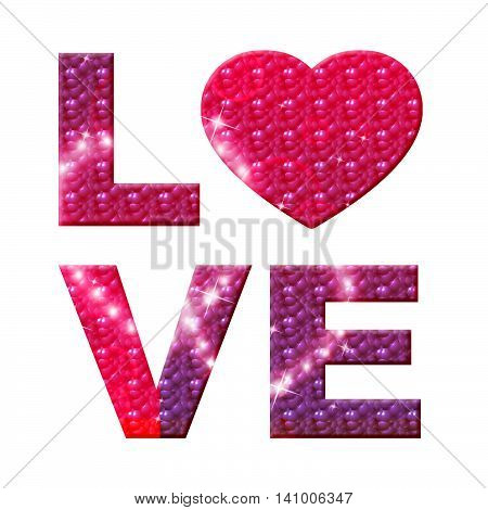 Love Word Represents Affection Boyfriend And Compassion