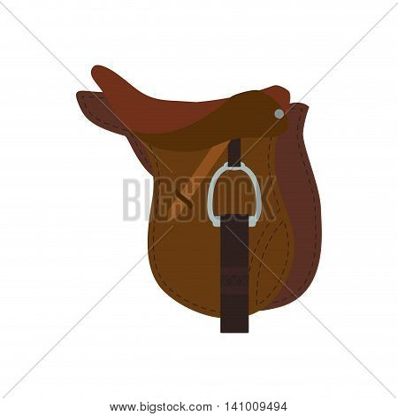 chair horse animal ridding sport hobby icon. Isolated and flat illustration. Vector graphic