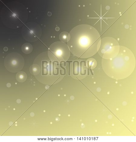 Imagination lights at night abstract background stock vector
