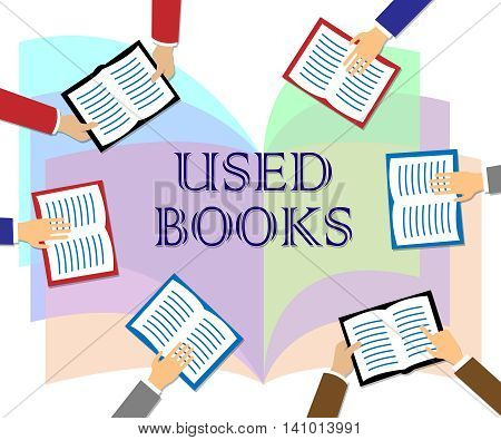 Used Books Indicates Second Hand And Fiction