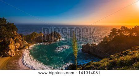 Mcway Falls Big Sur California