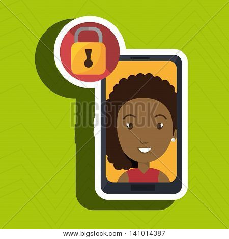 woman photo search loupe vector illustration eps 10
