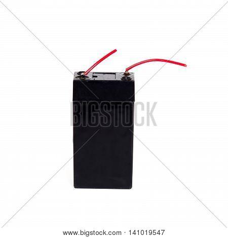 Sealed acid battery isolated on white background
