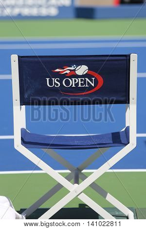 NEW YORK- AUGUST 25, 2015: Arthur Ashe Stadium at the Billie Jean King National Tennis Center ready for US Open tournament in New York