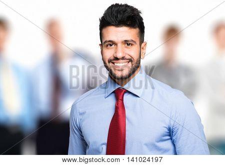 Portrait of a friendly businessman