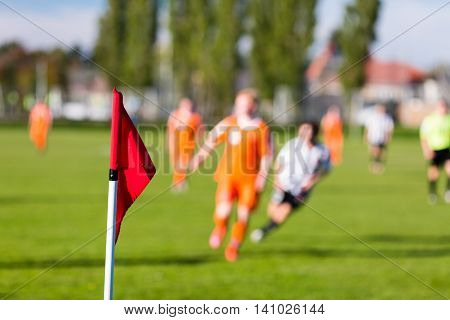 Blurred Soccer Players Playing Amateur Soccer Match
