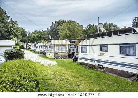 An image of a campsite at Starnberg Lake Bavaria Germany