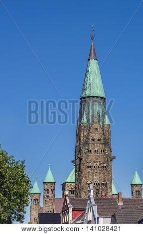 Towers Of The St. Antonius Basilica In Rheine