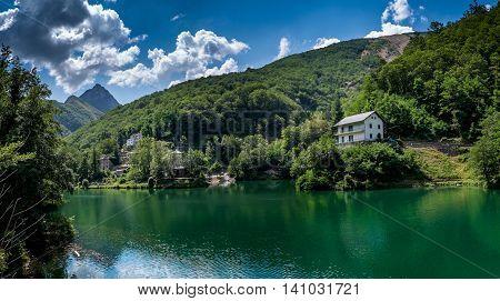 Garfagnana Tuscany Italy - Isola Santa is a ghost village at the heart of Apuan Alps