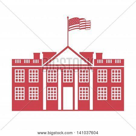 building governmental usa icon vector illustration design