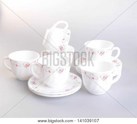 Teacup. Teacup Set On A Background. Teacup. Teacup Set On A Background.