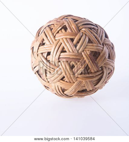 Ball. Rattan Ball On Background. Rattan Ball On The Background.