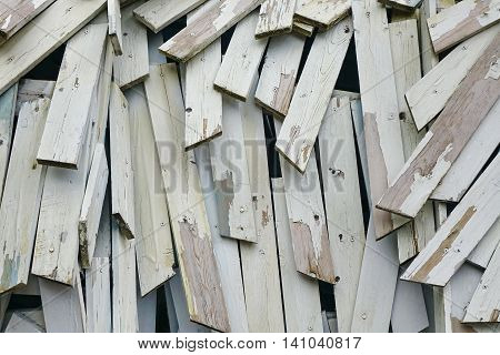 Abstract Wood  Background Or Texture From Nailing Boards Stack