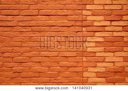 Painted Terracotta Brick Wall Background Or Texture