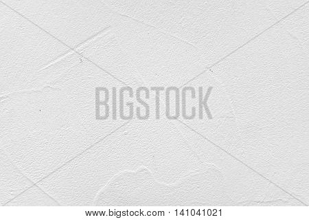 Decorative White Finishing Plaster With Abstract Application Pattern Textured Background