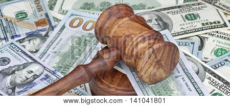 Judges Or Auctioneers Hammer On Huge Money Heap