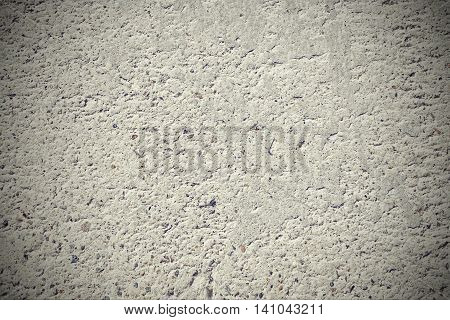 White Cement Concrete Mortar Wall Rough Grunge Textured Background, Close Up