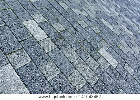 Patio Floor Or Pavement Made From Concrete Brick Bloks Background