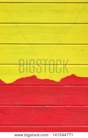 Bicolor Yellow Red Wood Paneling Texture Background  With Abstract Pattern