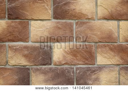 Modern Vintage Stone Tiled Wall From Rectangular Textured Tiles Background