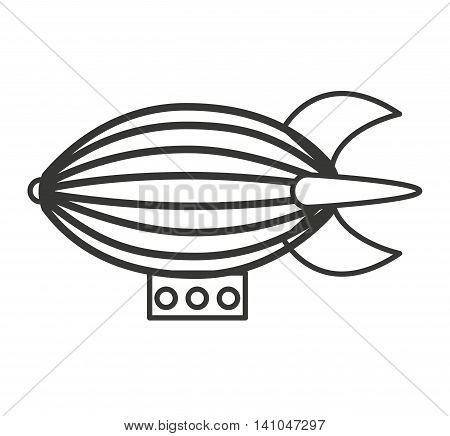 zeppelin toy isolated icon vector illustration design