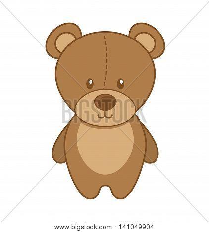 bear teddy toy icon vector illustration design