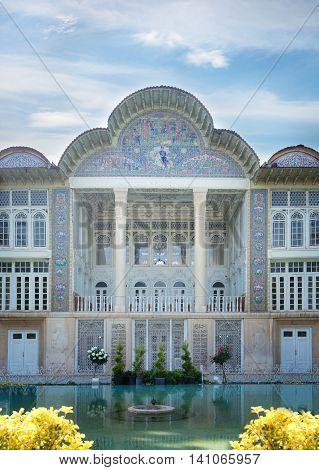 SHIRAZ IRAN -APRILL 30: Qavam House at Eram Garden in Shiraz Iran on Aprill 30 2016. Eram Garden has led to its designation as a UNESCO World Heritage Site.