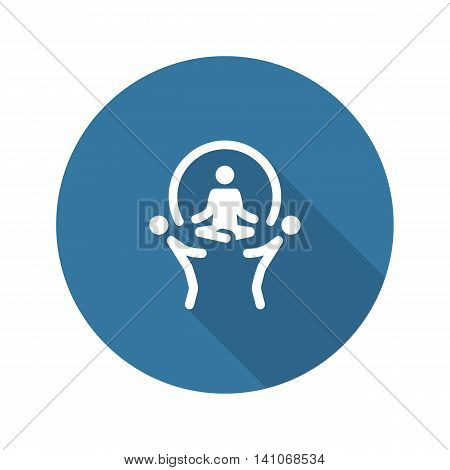 Support Icon. Business Concept. Flat Design. Technical Support Staff Giving Great Support for User. Isolated Illustration. App Symbol or UI element.
