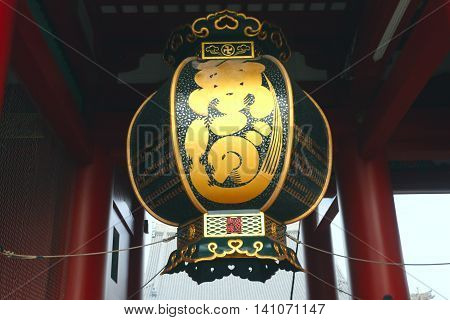 Lamp in Sensoji Temple ,Asakusa-Japan ,Buddha of japan