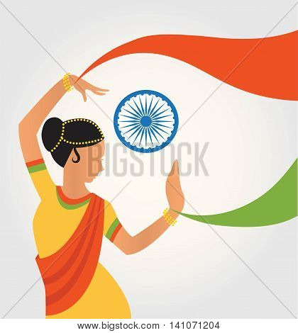 illustration of colourful culture of India with different form of classical dance. illustration