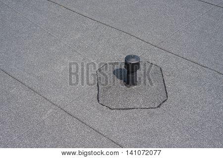 Roof ventilation. Aerator - flat roof ventilation. Roofing felt. Roof ventilated.