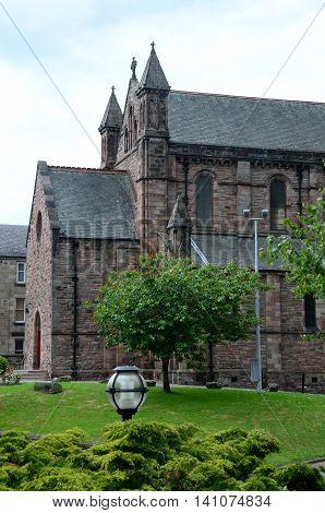An external view of a church building in Dunfermline
