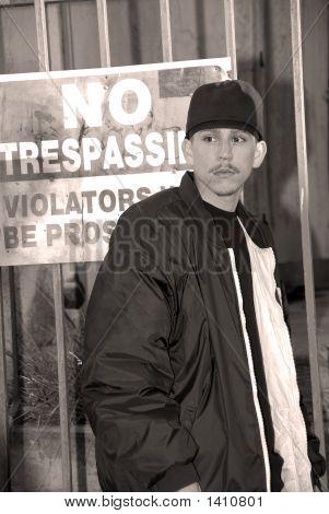 Latino Boy, No Trespassing